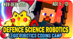 Pokemon Minecraft Defence Science Robotics Lego Robotics Coding Technology STEAM School Holiday Winter Camp November to December 2020 Janaury 2021 for Age 5 to 13